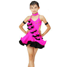 NEW Childrens Latin Salsa Ballroom Dance Dress Girls Dancewear FY083