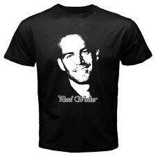 Paul Walker American Actor Hollywood T-Shirt Mens Black / Navy Blue