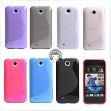 S Line Gel TPU Silicone Case Skin Cover for HTC Desire 300 301e