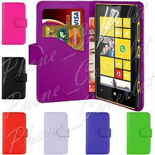 PU Leather Wallet Book Magnetic Book Flip Phone Case Cover For Nokia Lumia 520