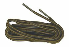 2 pair lot Heavy Duty bootlaces shoelaces Brown - Black braided  boot laces