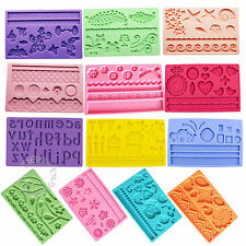 Decorating Fondant Cake Cookie Sugarcraft Silicone Rose Peony Mold Cutter Mould