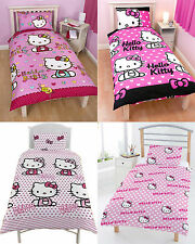 Hello Kitty Childrens Kids single duvet cover quilt cover bedding sets