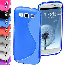 STYLISH S-LINE RUBBER GEL CASE COVER FOR SAMSUNG GALAXY S3 SIII (i9300) PHONE