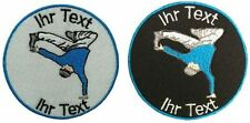 break dancing patch with your text 8cm embroidered logo (266-1)