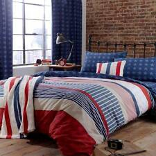 CATHERINE LANSFIELD STARS AND STRIPES BEDDING QUILT SET, CURTAIN, BLUE, RED