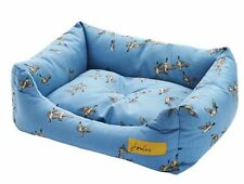 """New Joules """"Snuggle"""" Square Dog Bed - Dora Flying Ducks - Blue"""