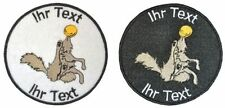 discdogging patch with your text 8cm embroidered logo (306-1)