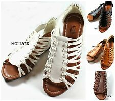 New City Classified Women Fashion Strappy Gladiator Sandals Slides Shoes
