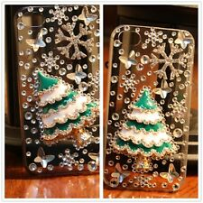 Luxury Christmas tree Crystal Bling Case Cover Shell For Apple Iphone4 4S 5 5S