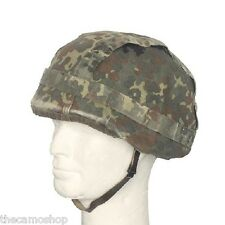 German Army BW bundeswehr flecktarn military combat helmet cover genuine issued