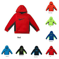 NWT Nike Kids Little Action Boys Graphic Therma-FIT Swoosh Hoodie -Size 3 4 5 6