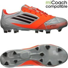 Adidas F50 Adizero TRX FG men football boots leather silver black orange NEW