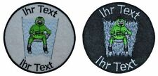 WOK WM patch with your text 8cm embroidered logo (516-1)