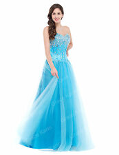 STOCK Strapless Prom Gowns Dresses Party Pageant Formal Evening Bridesmaid Dress