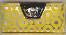 Clutch Wallet Removeable Checkbook Cover Circle Pattern 3 Colors