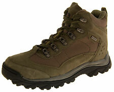Mens Suede LEATHER Hiking Walking Waterproof Outdoor Durable Hi Top Ankle Boots
