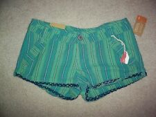 MOSSIMO shorts green flat 100% cotton pockets belt loops NWT variations sizes