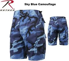 SKY BLUE Camouflage Military BDU Combat Cargo Shorts Poly/Cotton 65218