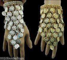 Belly Dance Dancing slave hand  Bracelet Egyptian  Coins Beads Jewelry   107
