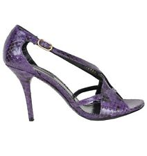 DOLCE & GABBANA Python Heels Pumps Shoes Purple Chaussures Pourpre 02259