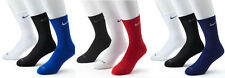 Authentic Nike Dri-FIT Mens Crew Socks, 3 pair/pk, Size 8-12, Mixed Colors