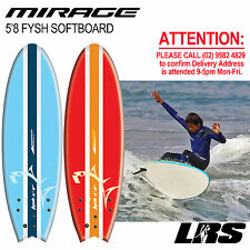 NEW Mirage Softboard 5'8 fysh Surfboard Fun Surf Soft Board