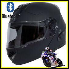 T27B1 BLACK FULL FACE MODULAR HELMET MOTORCYCLE BLUETOOTH HELMET Dual Visor