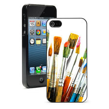 For Apple iPhone 4 4S 5 5S 5c Hard Case Cover 813 Artists Paints and Brushes