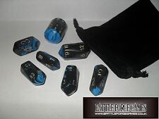 CRYSTAL CASTE 7 PIECE SET CRYSTAL DICE™ RPG - OBLIVION INTERFERENZ - FREE POUCH