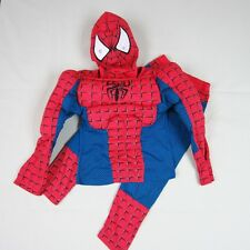 Boys Girls Muscle Red Spiderman Fancy Dress Outfit Cosplay Costume 2-3-4-5-6-7T