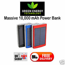 Dual USB Solar Power Panel External Mobile Battery Charger 10000mAh Power Bank