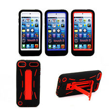 Hybrid Rugged New Hard Silicone Case Cover Stand For Apple iPod Touch 5th Gen