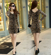 new 2014 tops for women girl summer leopard sex clothes clothing dress women F01