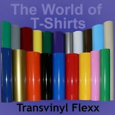 """IRON-ON Heat Transfer Vinyl - LARGE 15"""" x 10"""" Sheet for ALL Cutting Machines"""