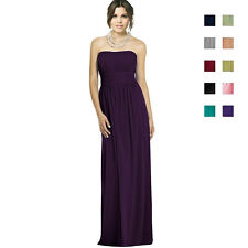 Strapless Chiffon Formal Cocktail Evening Ball Gown Bridesmaid Dress ed0737