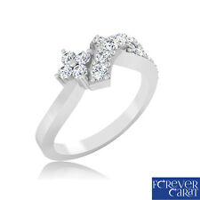 0.27Ct Natural Real Diamond Ring 100% Certified 925 Sterling Silver Diamond Ring