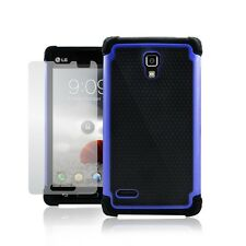 Hybrid Rugged Soft & Hard Dual Layer Defender Protective Case for LG Optimus L9