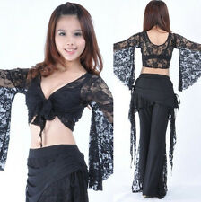 Belly Dance Beautiful Bolero Lace Top Flared Blouse 9 Colors