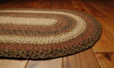 Homespice Hudson Russet Red Black Jute Braided Area Rug Country Home Decor