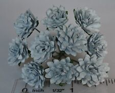 """Mulberry Paper Aster Daisy tiny BABY BLUE 15mm 5/8"""" scrapbooking greeting card"""