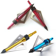 6 PCS Arrow Heads Broadheads 100Grain 3 Blades Hunting Compound Bow Arrows Tip