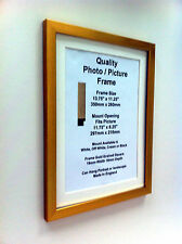 """Gold Photo Picture Frame 19mm 12""""x12"""" 12""""x13"""" 12""""x14 12x15 12x16 (mount) perspex"""