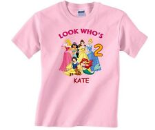 Princess Personalized Custom Birthday Shirt in 8 Different Colors