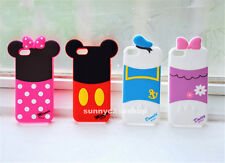 Cute cartoon Bow Minnie Daisy Soft Silicone Case cover for iphone 6 6S plus 5s