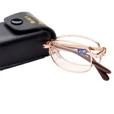 Portable Compact mini unisex folding reading glasses suit spectacles+1.0 to +4.0