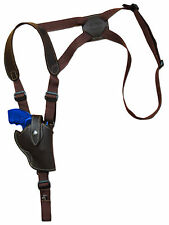 "NEW Barsony Brown Leather Vertical Gun Shoulder Holster for S&W 2"" Snub Nose Rev"