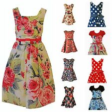 Girls Summer Party Dress Age 4 5 6 7 8 9 10 11 12 Years *HUGE* Selection