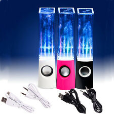 LED Dancing Water Music Fountain Light Speakers for Laptop iPhone iPad4 iPod USA