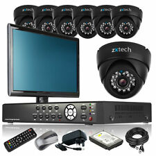 7 x Day Night Camera HD-MI 8 CH DVR CCTV Package Home & Business with Monitor 3G